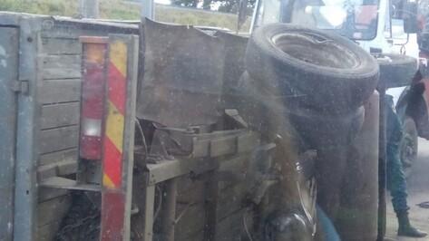 В Воронеже ДТП с Audi и грузовой «Газелью» попало на видео