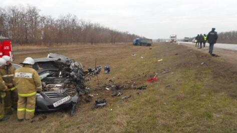 В Воронежской области столкнулись Toyota и MAN: один человек погиб