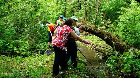 В хохольском селе волонтеры расчистили берег речки Бухтоярки