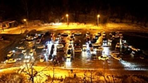 На пятом автофлешмобе в Воронеже сформировали две фигуры