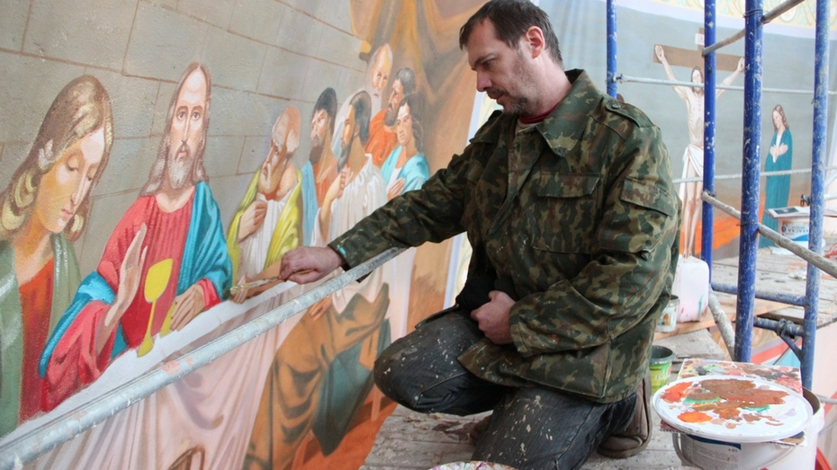 В новоусманском селе к Рождеству закончили роспись Богоявленского храма