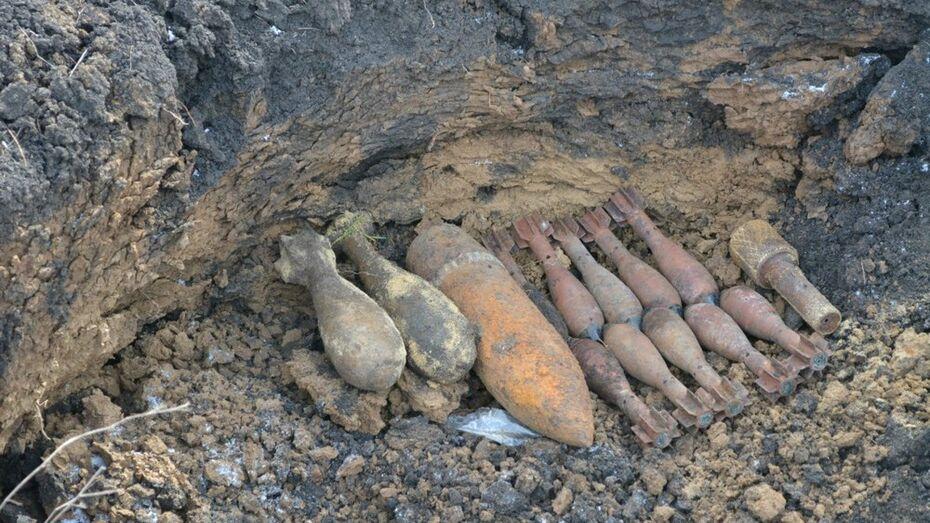 В Острогожском районе спасатели уничтожили 66 боеприпасов времен войны