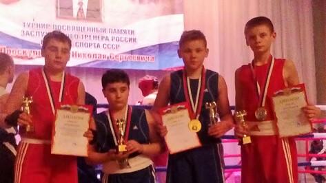 Каширские боксеры завоевали 4 «золота» в открытом первенстве Левобережного района Воронежа