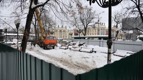 На месте скандальной стройки у вокзала «Воронеж-1» благоустроят сквер