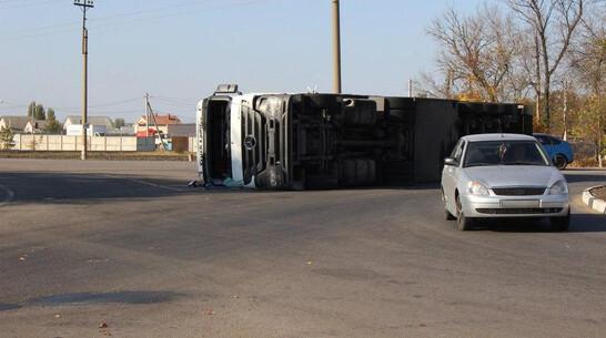 В перевернувшемся в Воронежской области грузовике погибли 70 свиней