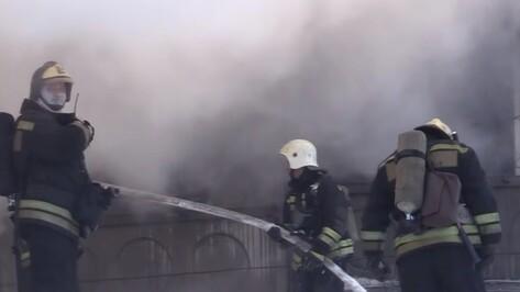 В Воронеже эксперты проверили качество воздуха в районе пожара на складе с каучуком