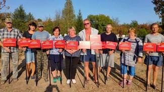 В россошанском селе Анцелович 77 могил фронтовиков обозначили специальными табличками
