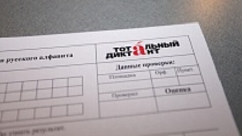 В сельских районах Воронежской области «Тотальный диктант» написали на «пятерку» 4 человека