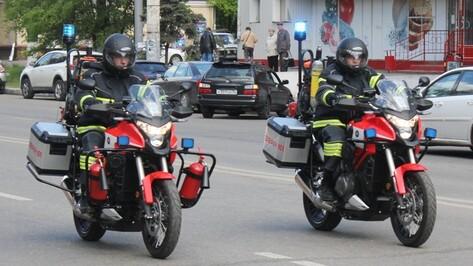 Воронежские спасатели представили группу мотоциклистов экстренного реагирования