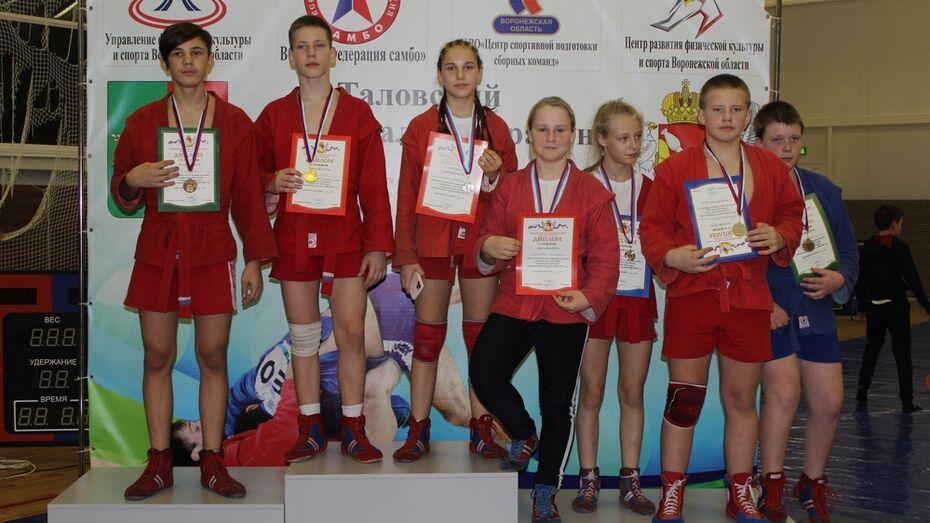 Таловские самбисты выиграли 6 золотых медалей на Рождественском турнире