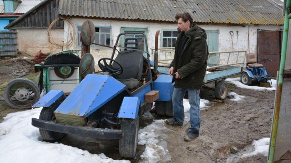 Житель Кантемировского района собрал из агрегатов старой «копейки» багги-трактор.