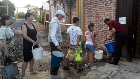 Жители воронежского райцентра пришли на выручку соседям после коммунальной аварии
