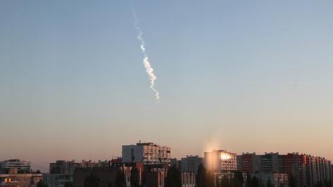 Воронежцы сняли на видео падающий метеорит