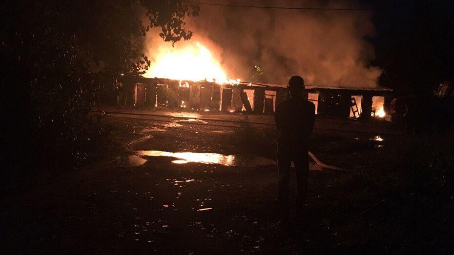 В Воронеже сгорели гаражи в Левобережном районе