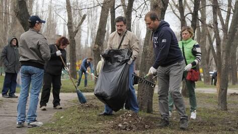 В Воронежской области в уборке улиц задействовали 80 тыс человек