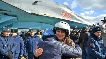 Фото РИА «Воронеж». Как встретили вернувшихся из Сирии летчиков