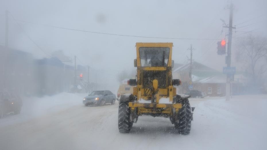 В Острогожске из-за снегопада отменили все рейсовые и междугородние автобусы