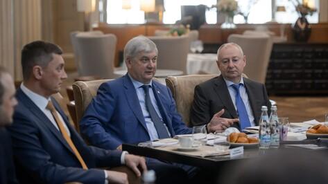 Воронежский губернатор Александр Гусев принял участие в заседании Торгово-промышленной палаты