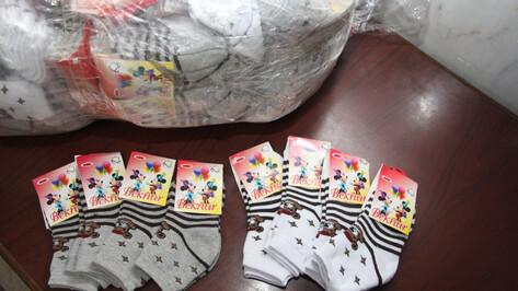 Воронежские таможенники изъяли партию контрафактных носков с Микки Маусом