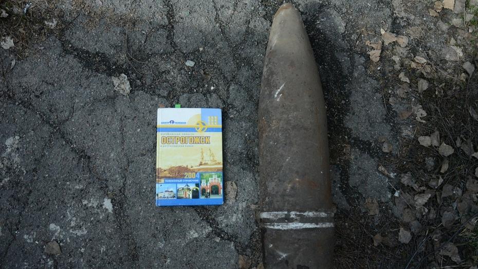 Острогожские спасатели уничтожили найденный в огороде снаряд