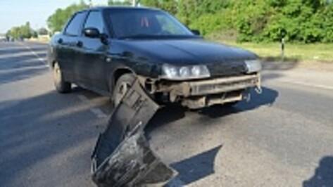 На самой аварийной улице Семилук снова произошло ДТП