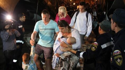 Два борта МЧС доставили в Воронеж 116 жителей Юго-Востока Украины