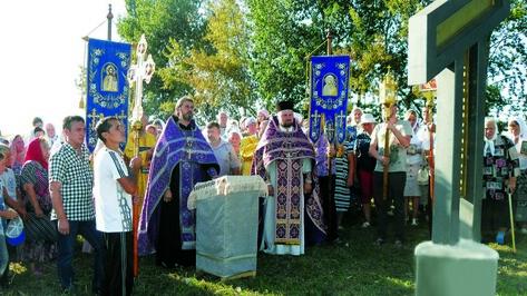 На въезде в Верхнюю Хаву появился православный крест