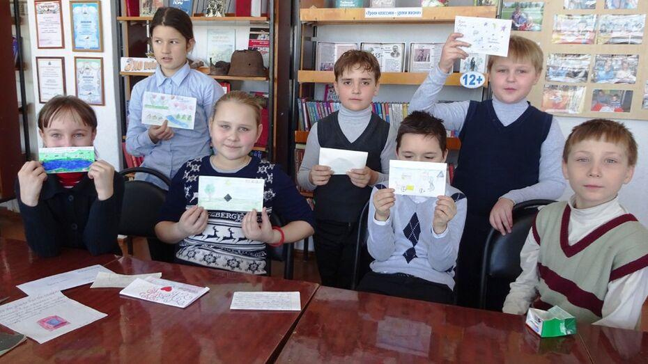 Школьники из репьевского села написали письма Ваньке Жукову