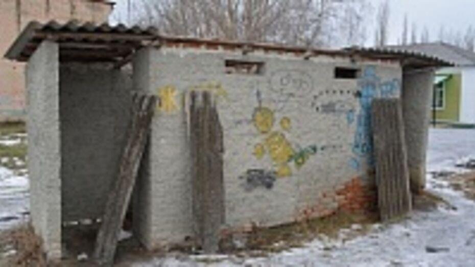 В Воробьевке хулиганы сняли крыши с туалетов сельской школы и Дома культуры