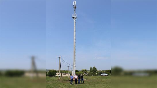 В кантемировском селе Куликовка установили вышку сотовой связи