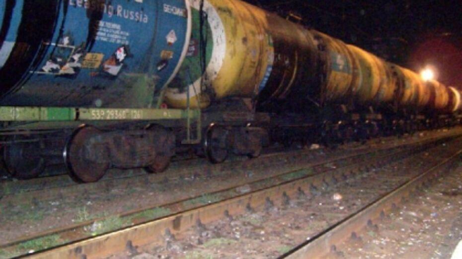 В Воронежской области сошли с рельсов три грузовых вагона