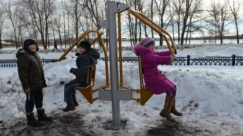 В 9 селах Верхнемамонского района установили спортивно-игровые площадки