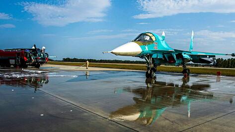 Машины «Пантера» впервые применили для тушения бомбардировщиков в Воронежской области