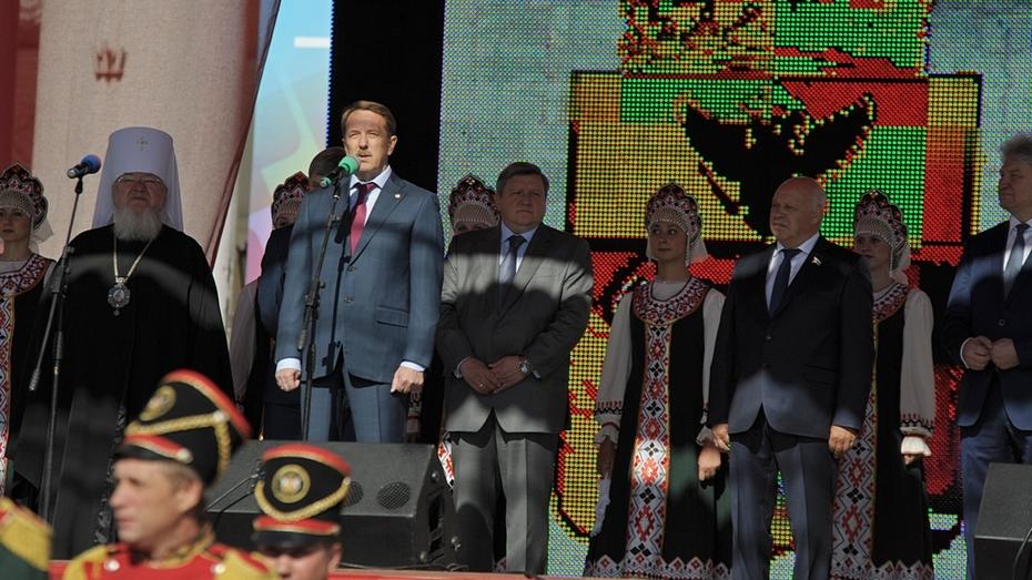 Алексей Гордеев и Александр Гусев поздравили воронежцев с Днем города