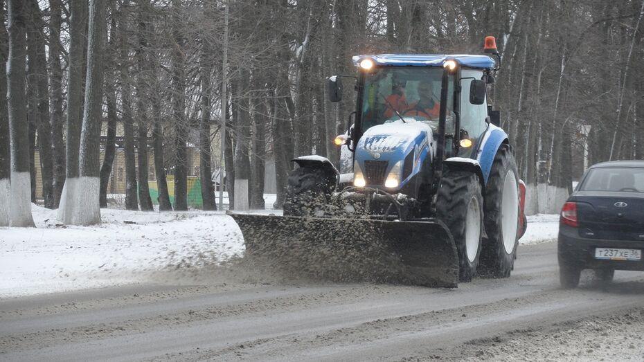 В Рамонском районе из-за снегопада дорожники приступили к работе в 3 часа ночи