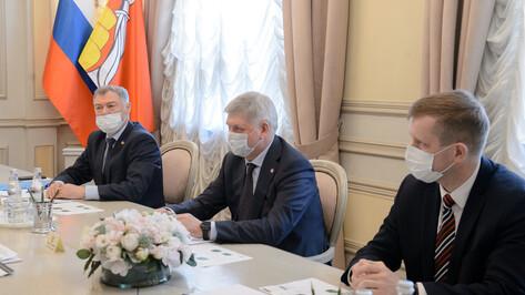 Воронежский губернатор и замруководителя Россельхозбанка наметили точки роста сотрудничества