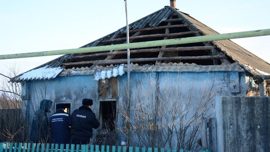 В Острогожском районе при пожаре в частном доме погибла женщина