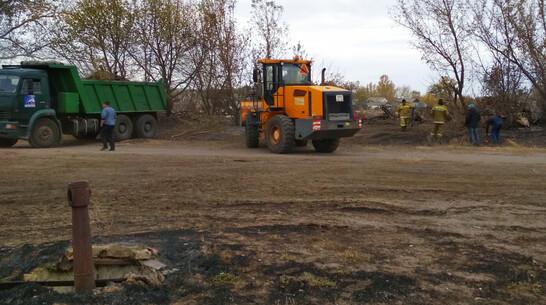 Обгоревшие завалы разобрали в воронежской Николаевке за 2 дня
