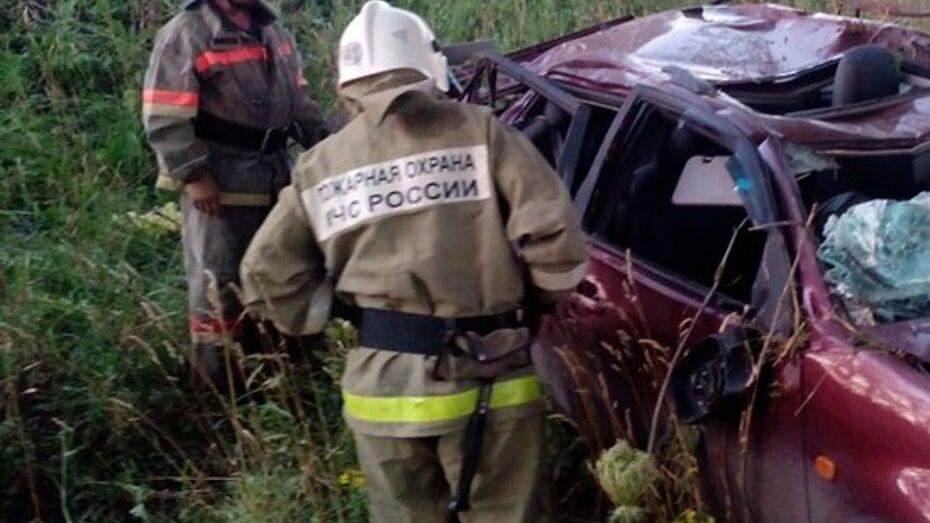 В Воронежской области столкнулись 2 иномарки: один погибший и один раненый