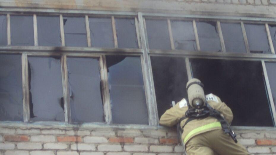В Воронежской области при пожаре пострадала женщина