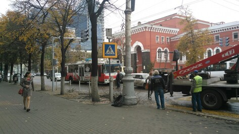 В Воронеже у пешеходного перехода на проспекте Революции появился светофор