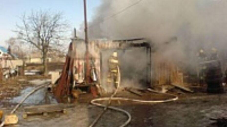 В Воронежской области в гараже сгорел автомобиль