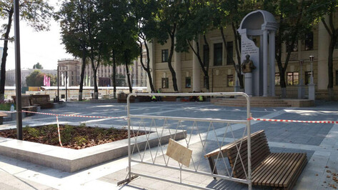 Обновленному 2 месяца назад скверу в центре Воронежа уже потребовался ремонт