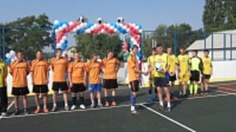 В бутурлиновском селе открылась новая спортивная площадка