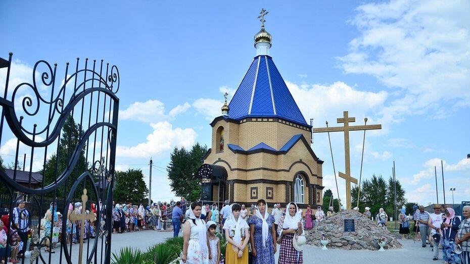 В Бутурлиновке открыли новую часовню