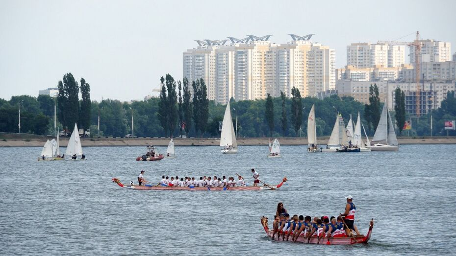 В Воронеже в день ВМФ определили победителей Петровской регаты