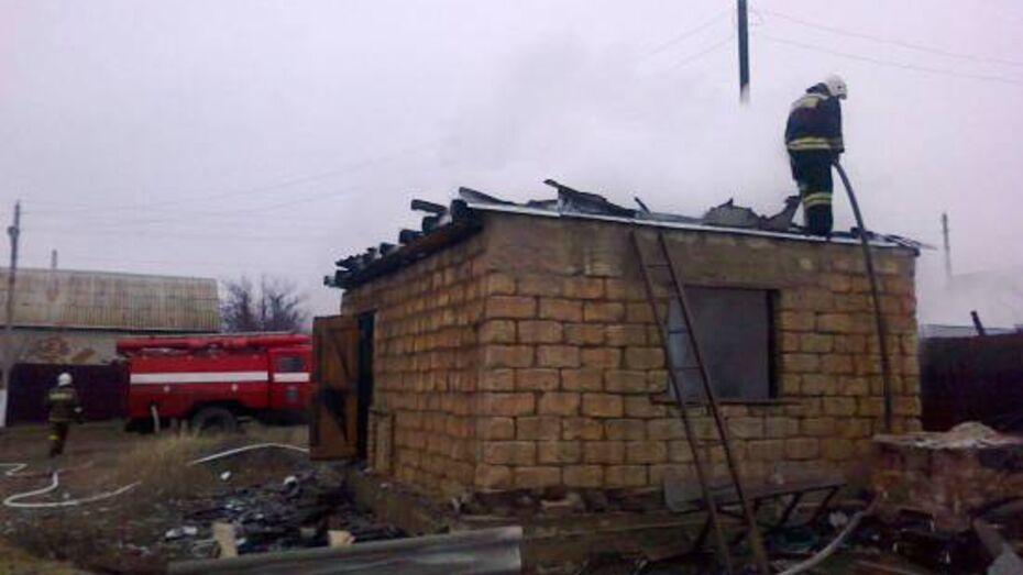 В Воронежской области при пожаре пострадал 34-летний мужчина