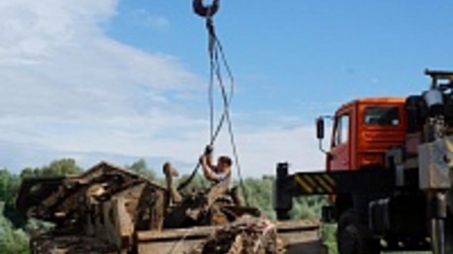 Танк «Клим Ворошилов», поднятый со дна Дона, отправили в Острогожск