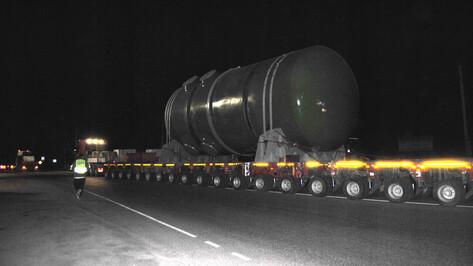 Застрявшее под Воронежем оборудование для Курской АЭС-2 отправилось в путь