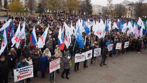 Митинг в День народного единства собрал около 6 тыс воронежцев